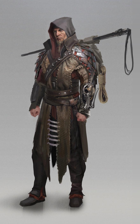 Concept art охотника на драконов, концепт арт от adrian wilkins