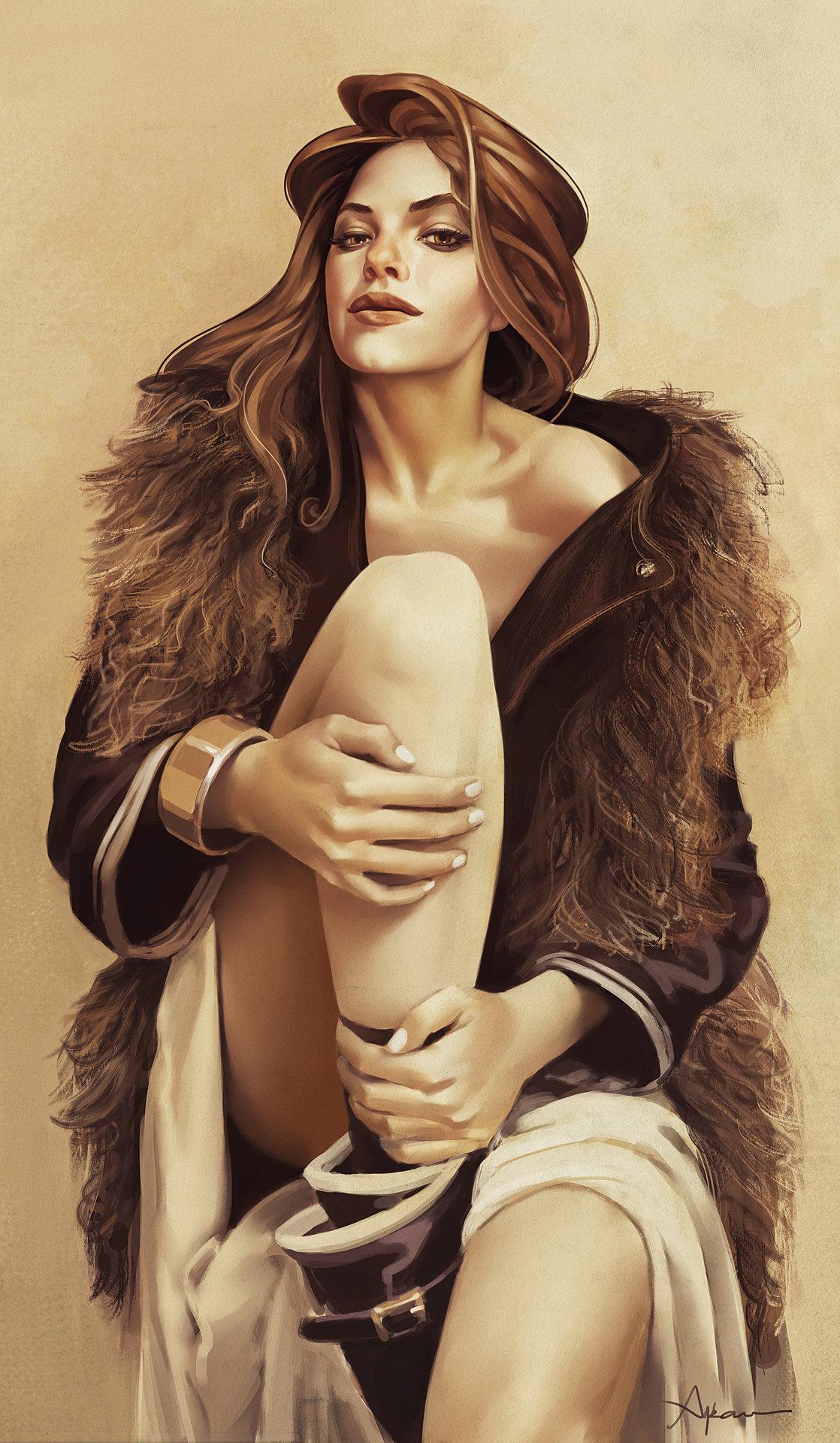 Арт девушки от Ayran Oberto Artwork Fashion