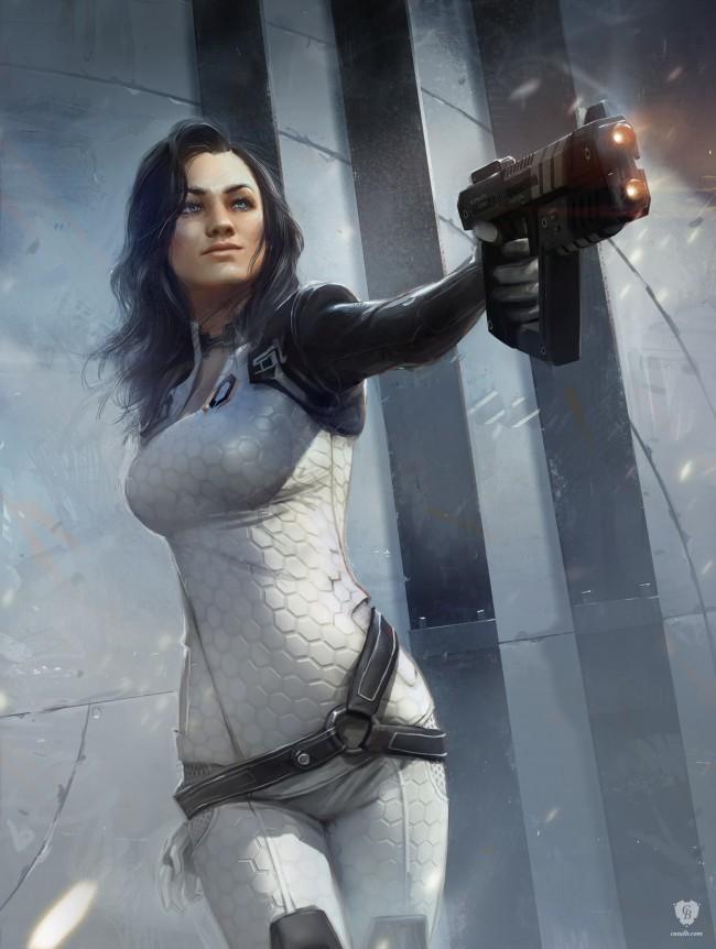 Арты девушек Miranda из Mass Effect
