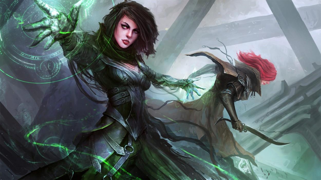Арт девушек ведьм от Daniel Kamarudin