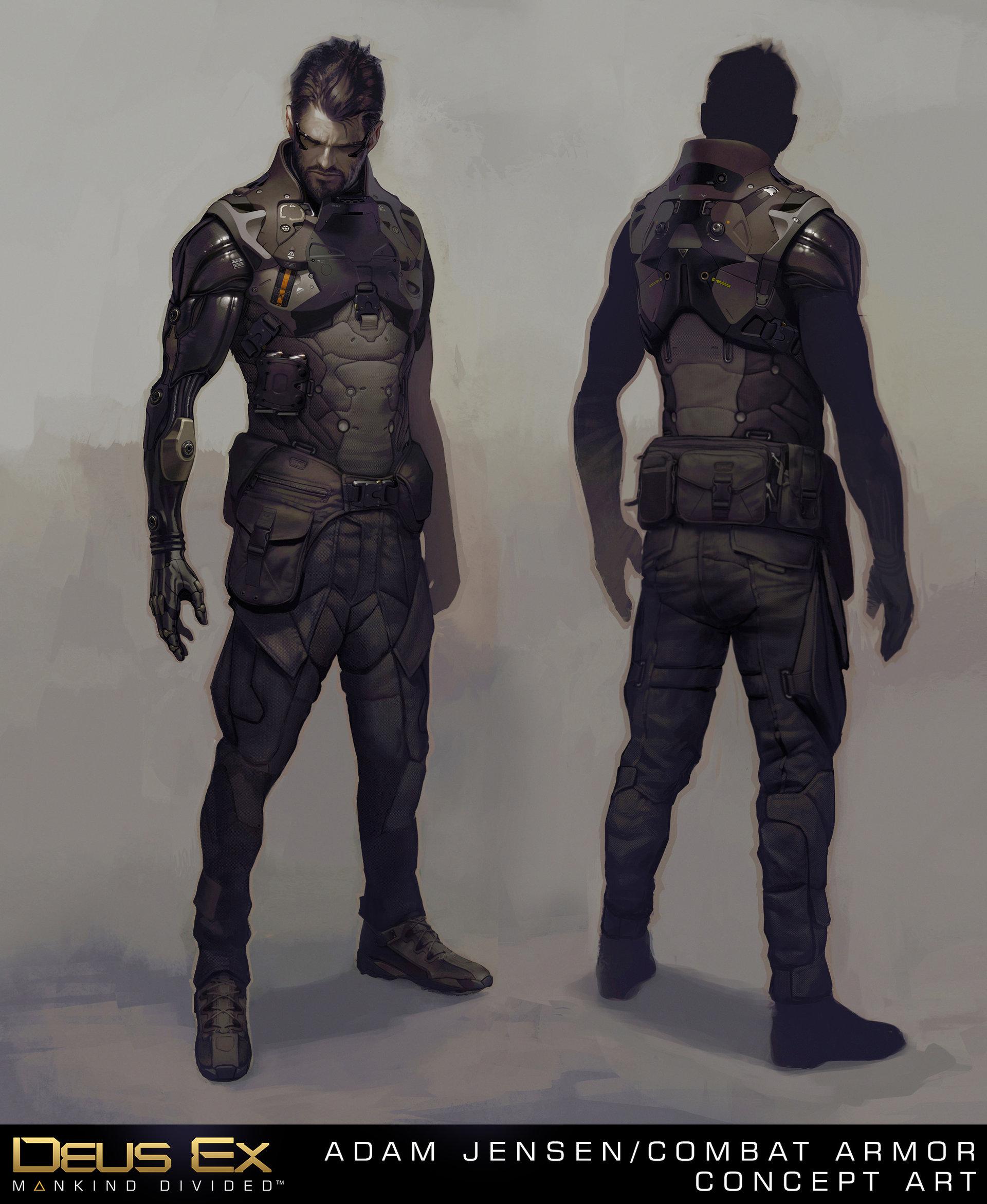Deus Ex: Mankind Divided концепт арт Адам combat armor