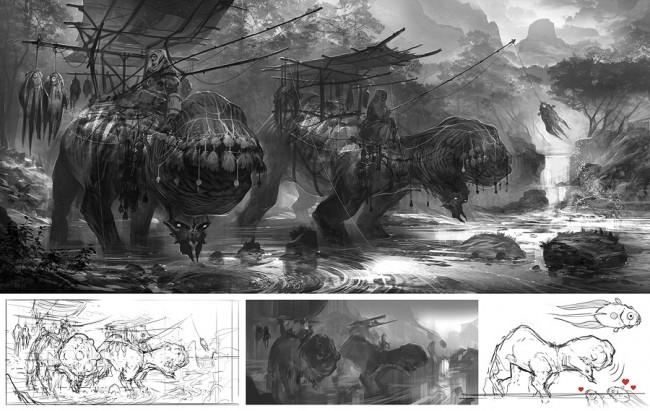 Concept art создания кочевников