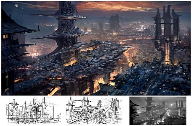 Concept art создания города