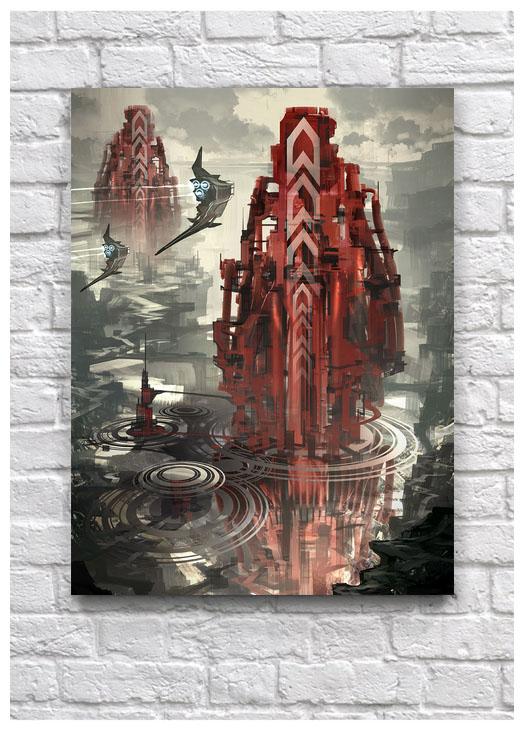 Постер Sci-fi башня