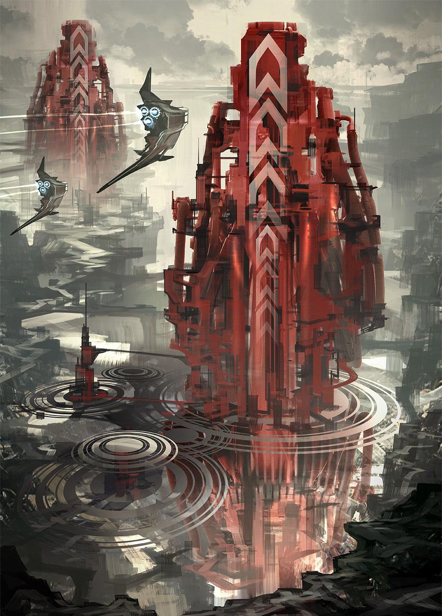 Постер Sci-fi башня original