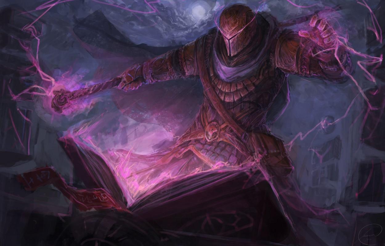 Concept art wizard темный колдун, концепт арт от jason nguyen