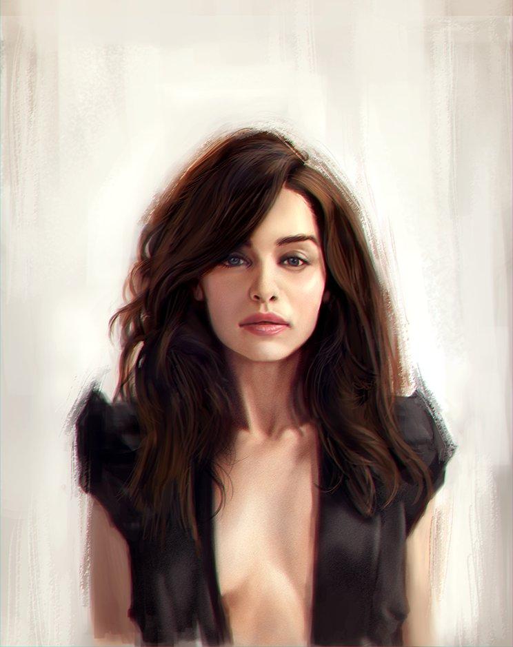 Арт девушки emilia clarke от joe atilano