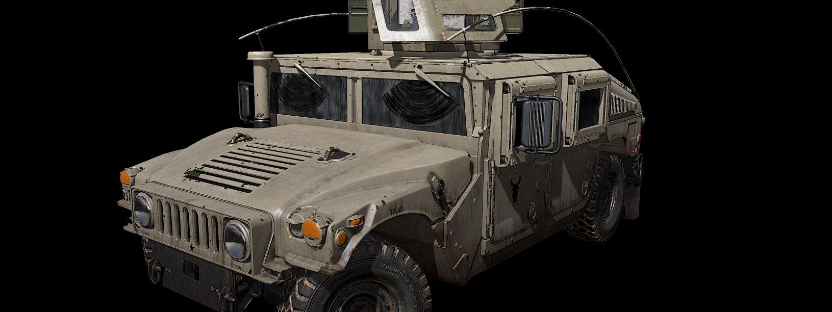 3D модель американского армейского вездехода M1151 HMMWV