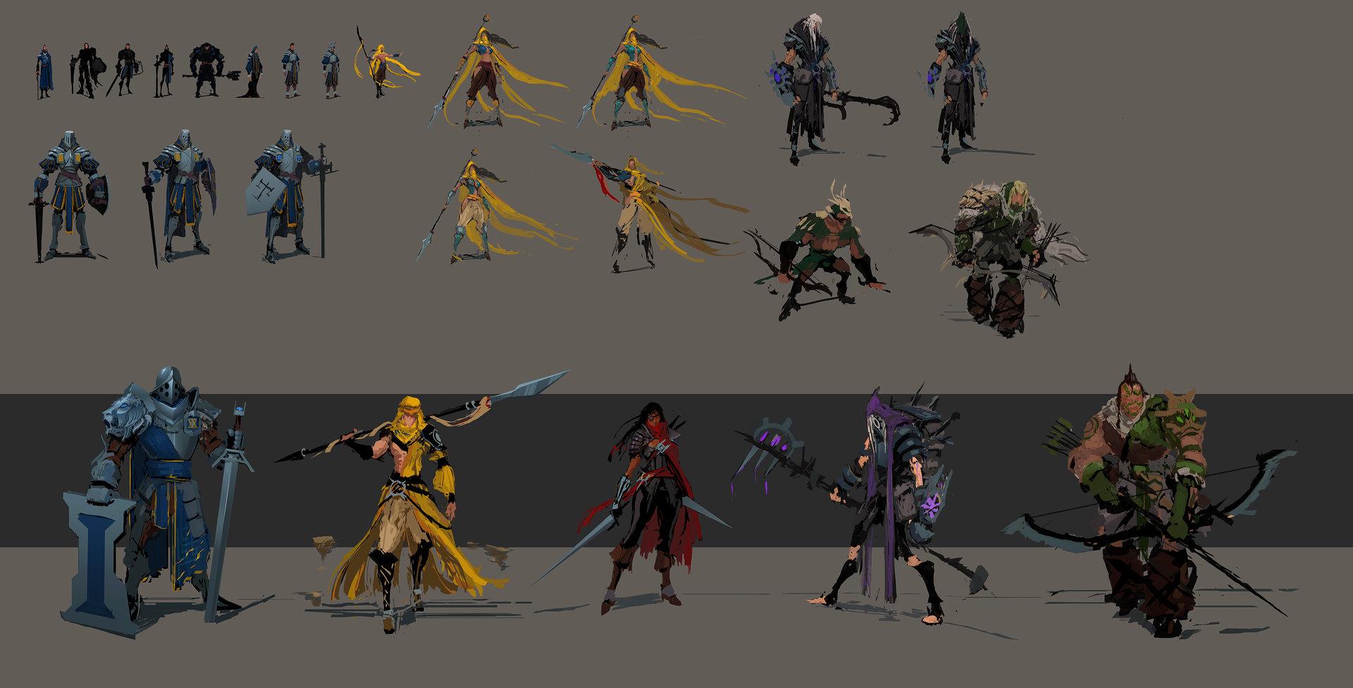 Концепт арт персонажей от muyoung kim iconic sketches
