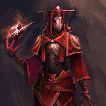 Концепт арт мага в красном