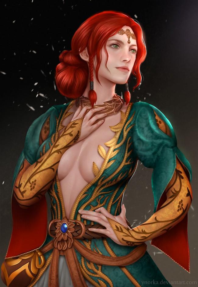 Фан арт Трисс по ведьмаку 3 от Ynorka Chiu triss merigold