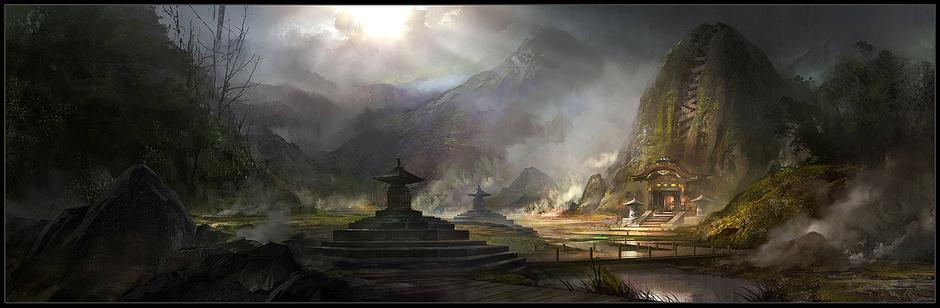 Tomb Raider promo concept art location