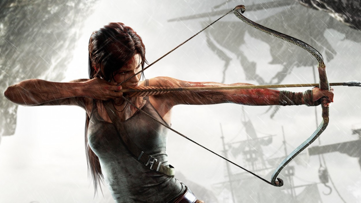 Tomb Raider promo concept art lara croft