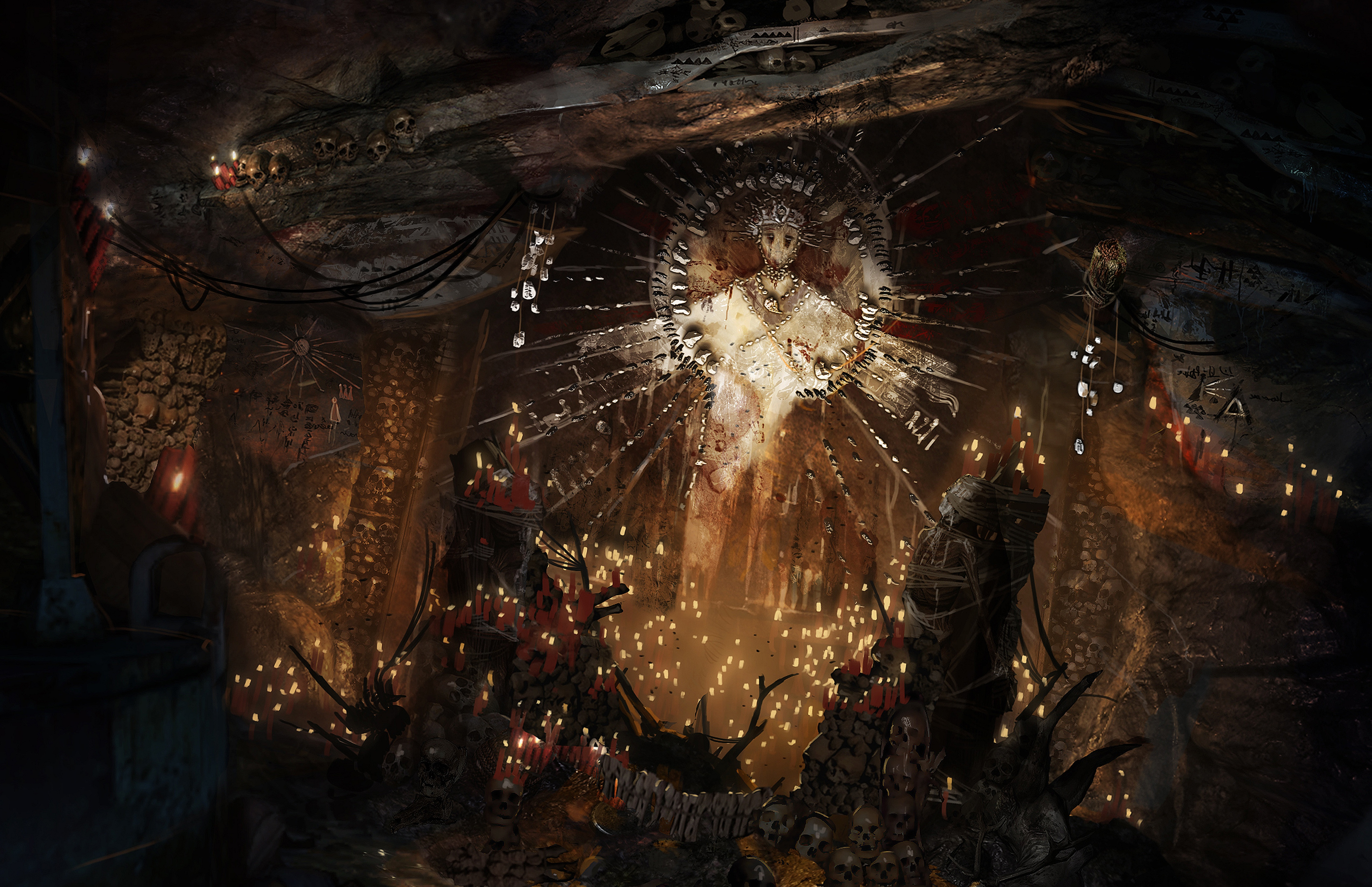 Tomb Raider promo concept art культисты