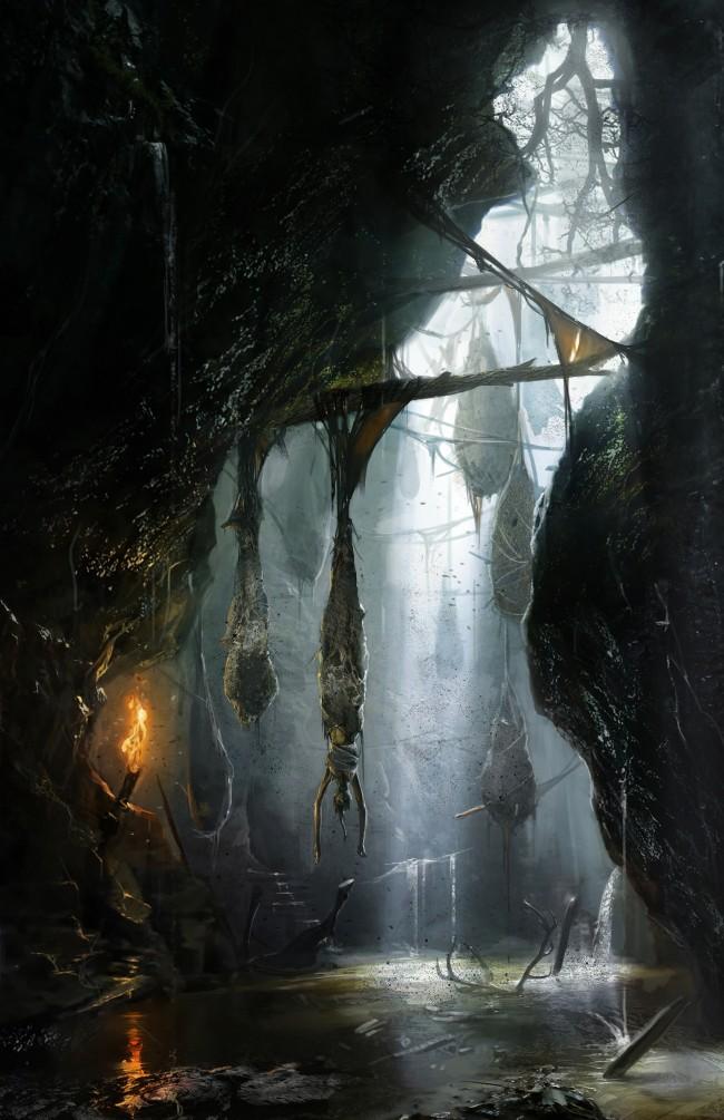 Tomb Raider promo concept art пещеры