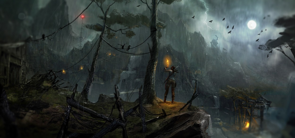 Tomb Raider promo concept art погода