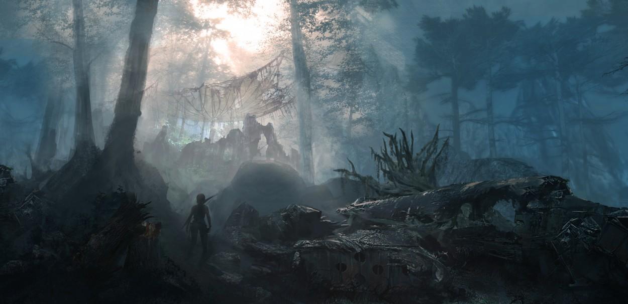 Tomb Raider promo concept art лес
