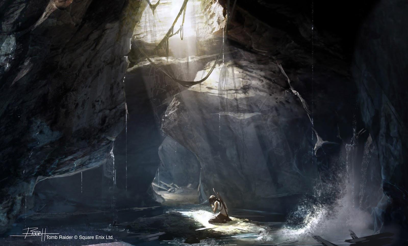 Tomb Raider promo concept art пещеры 2