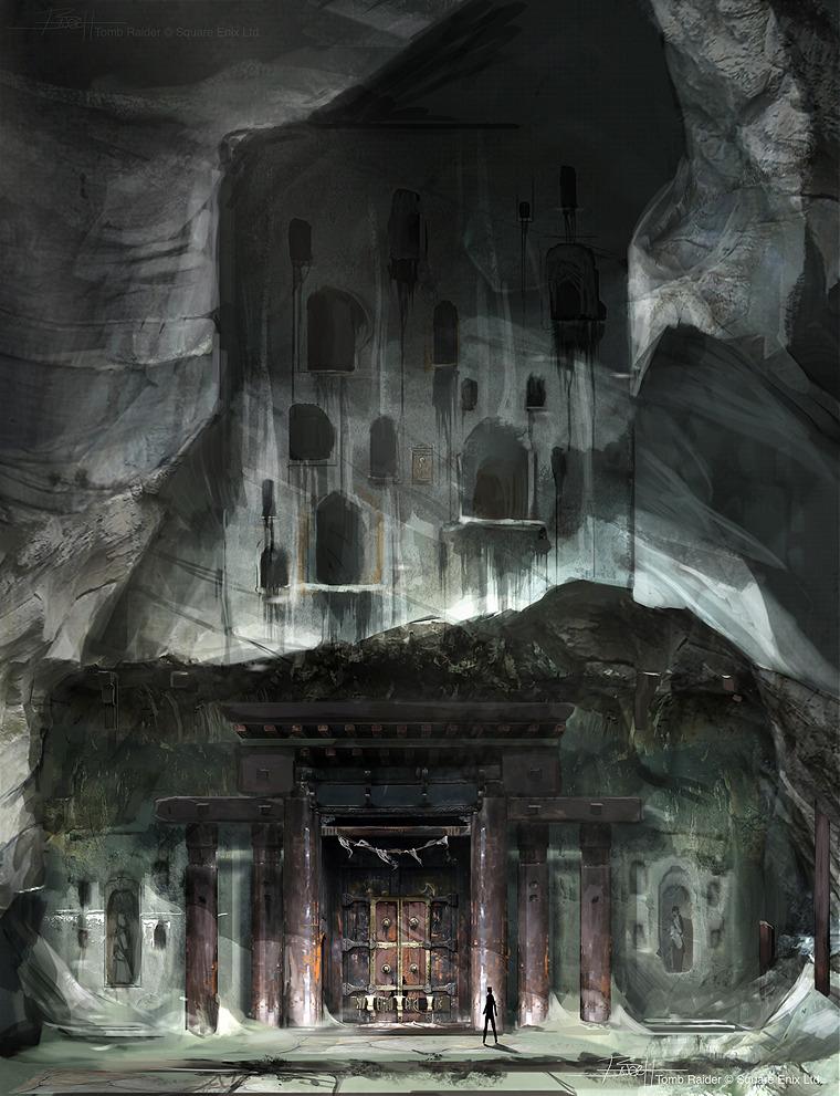 Tomb Raider promo concept art храм