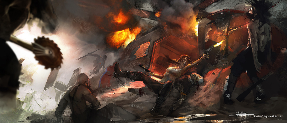 Tomb Raider promo concept art