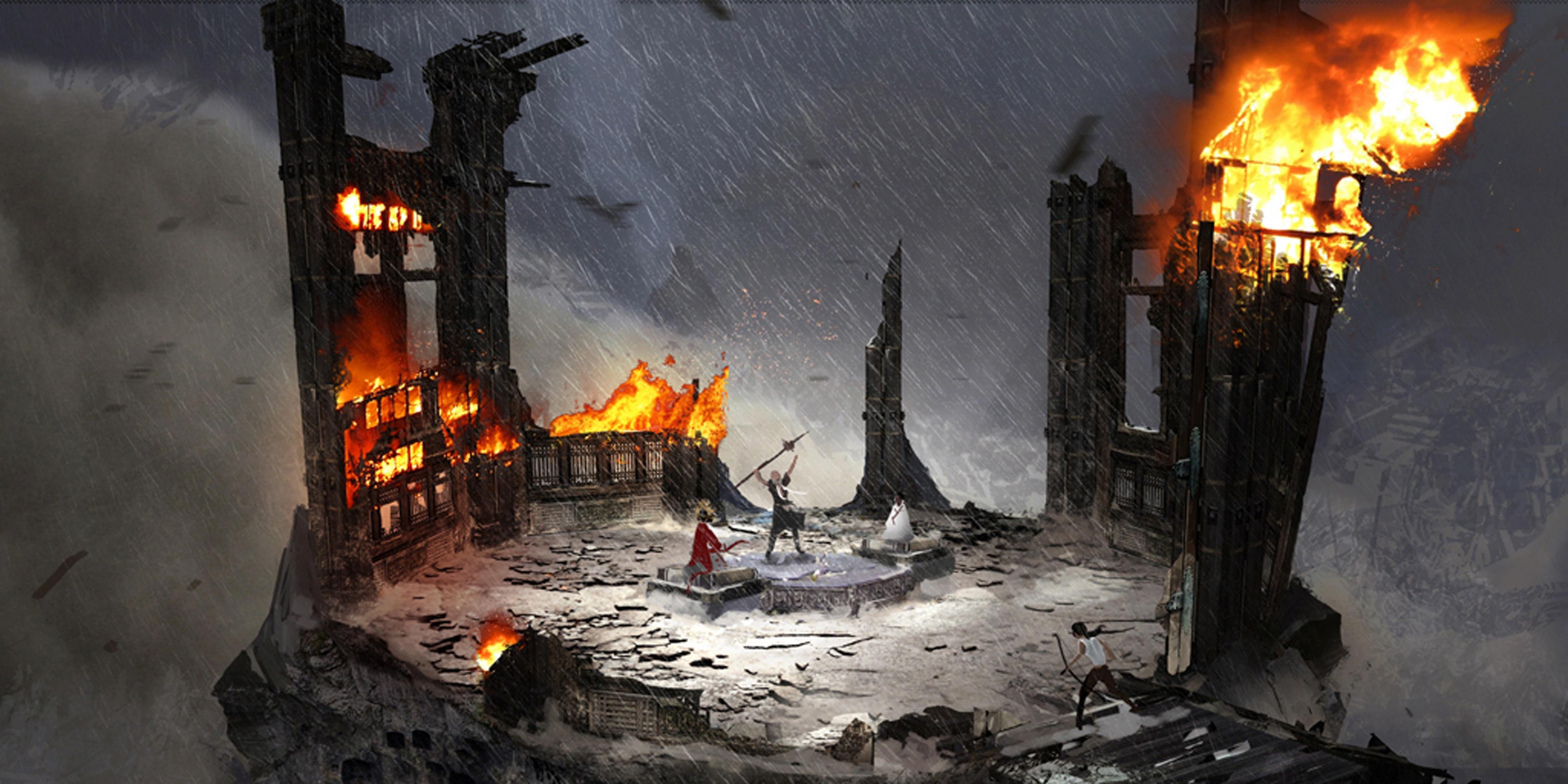 Tomb Raider promo concept art вершина горы