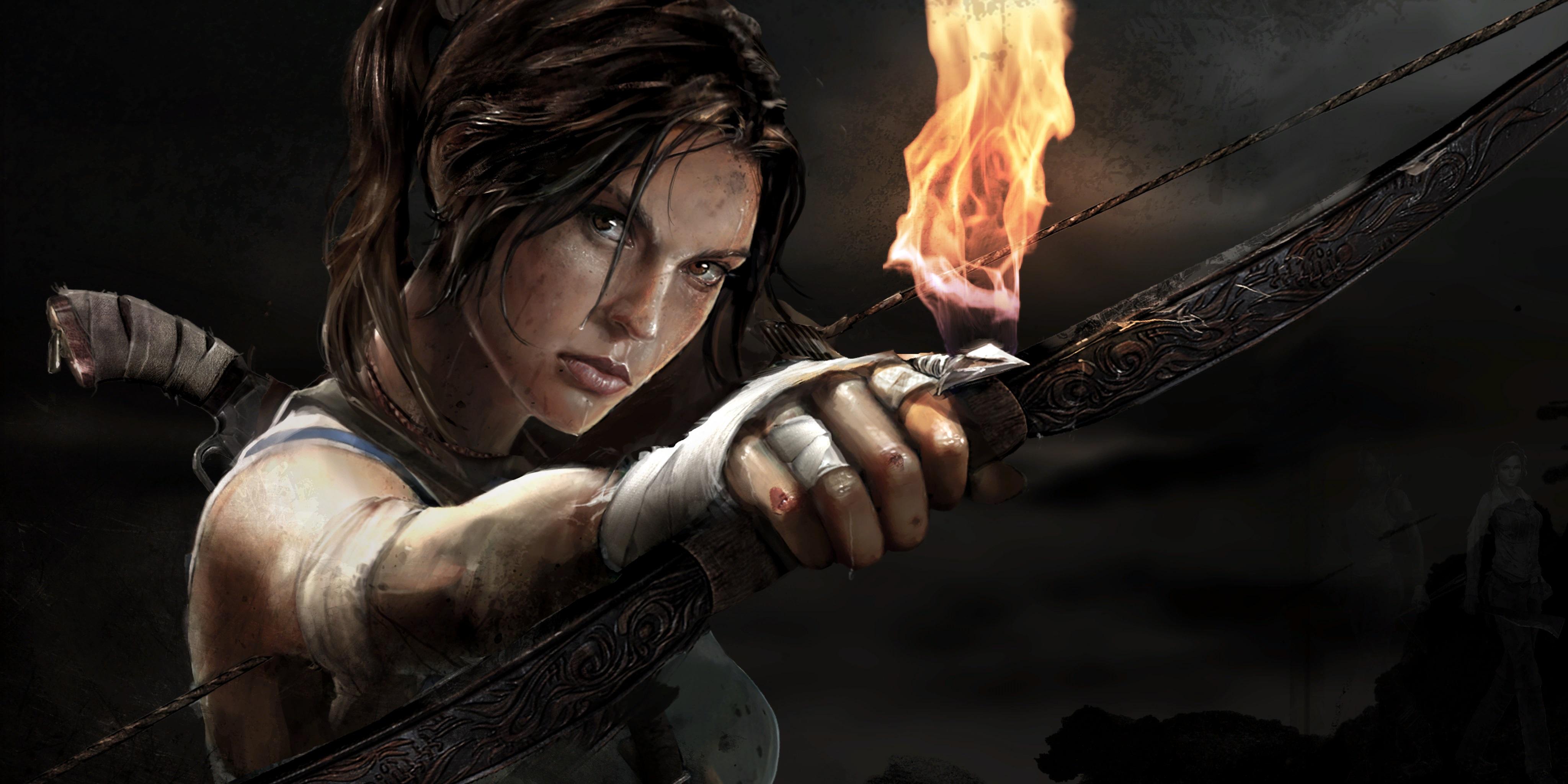 Tomb Raider promo concept art Лара