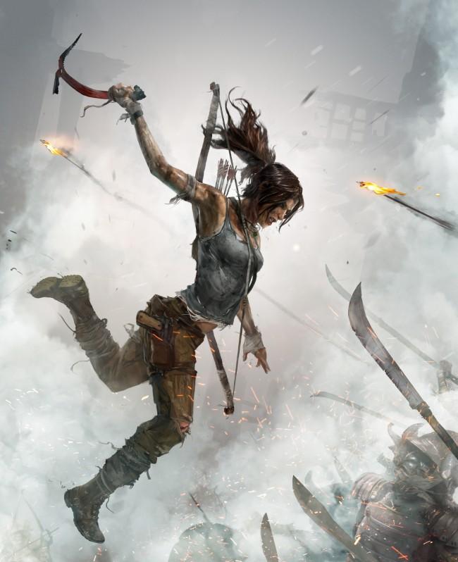 Tomb Raider promo concept art обложка игры