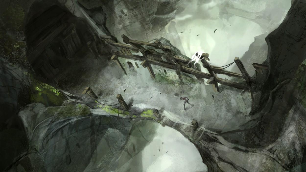 Tomb Raider promo concept art мост в храм