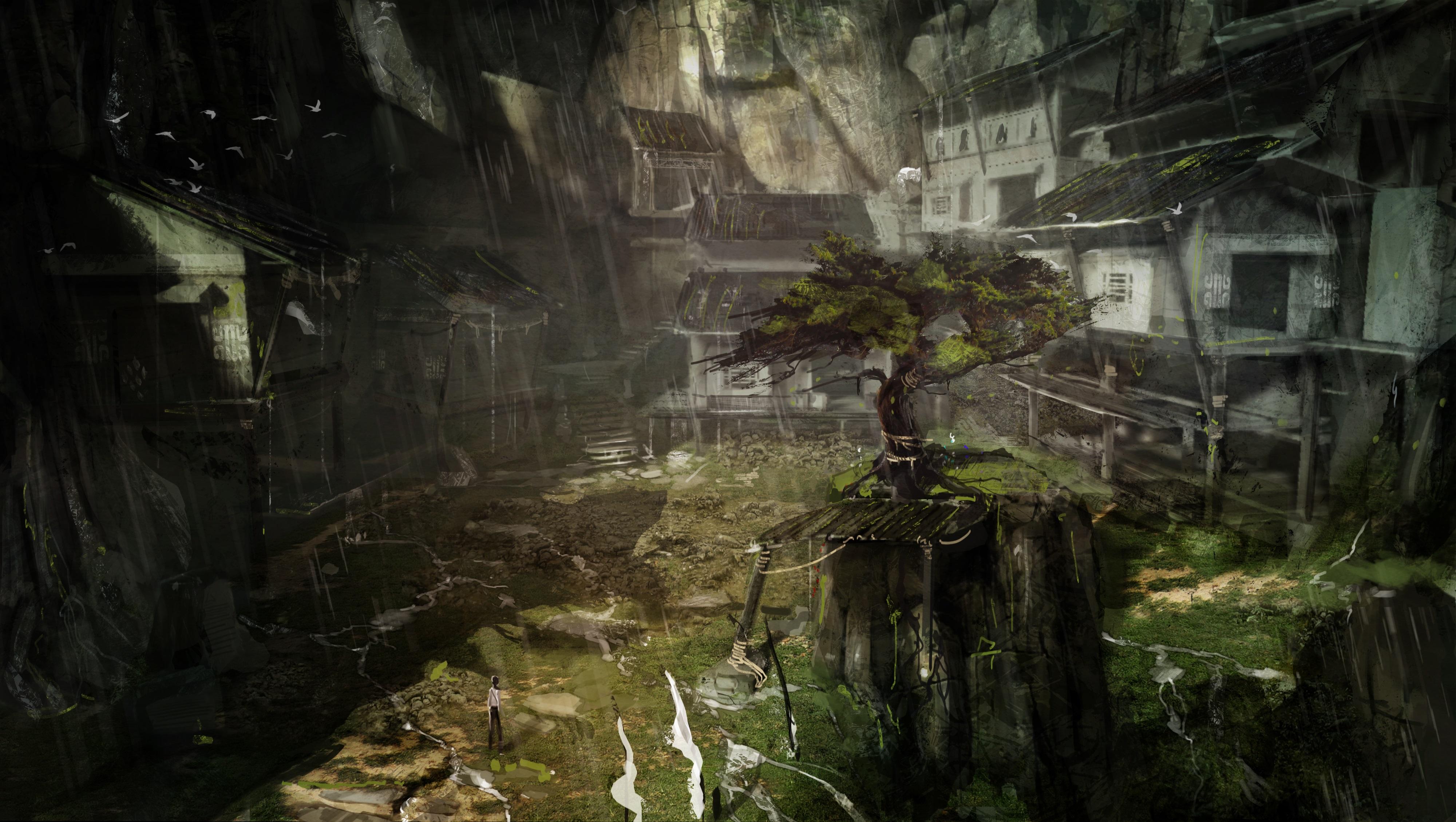 Tomb Raider promo concept art деревня