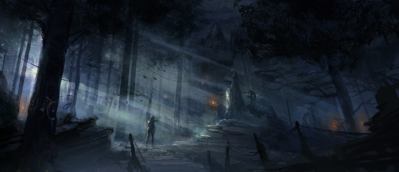 Tomb Raider promo concept art лес 3
