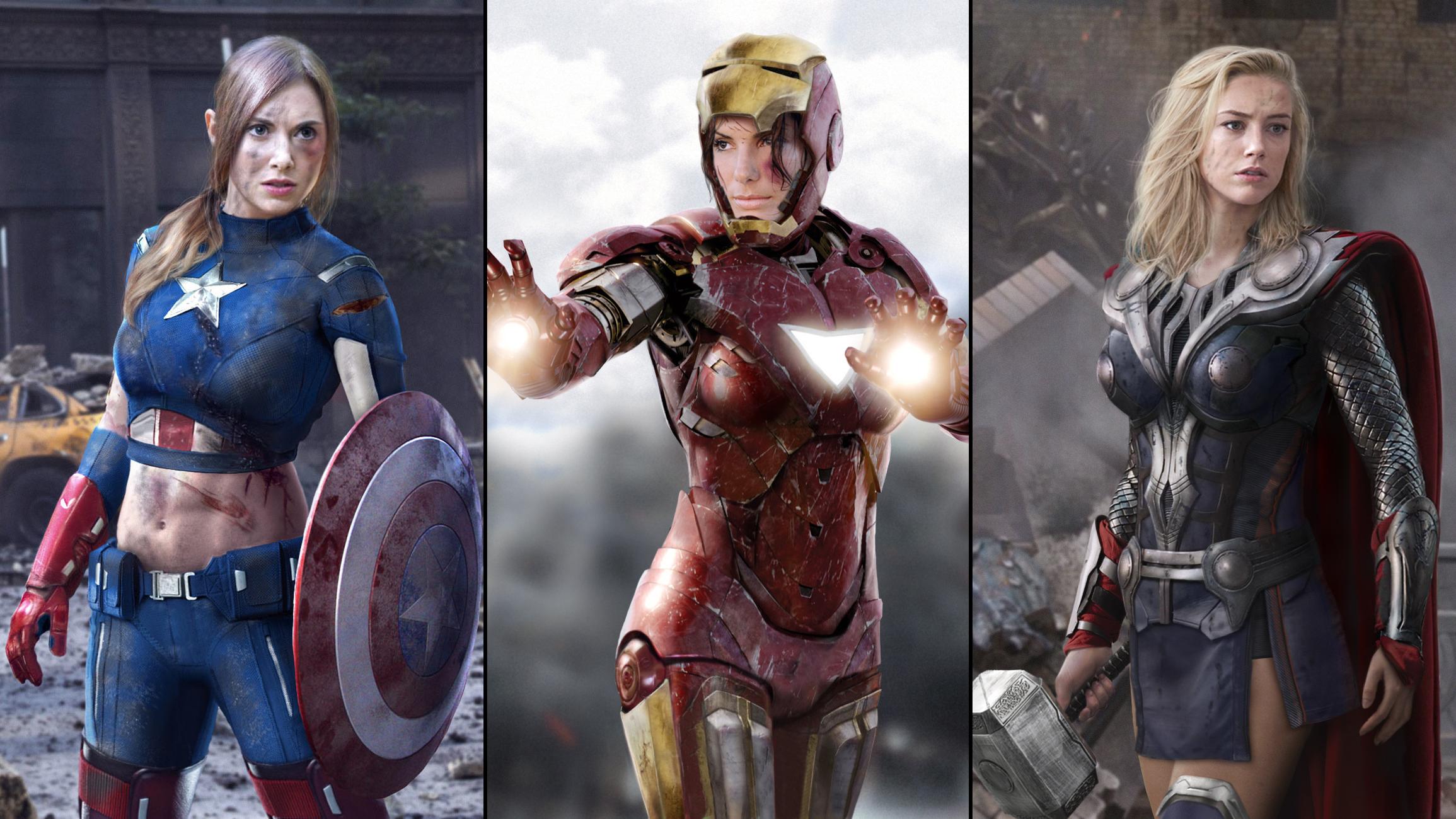 Avengers art Jokose_female_avengers косплей