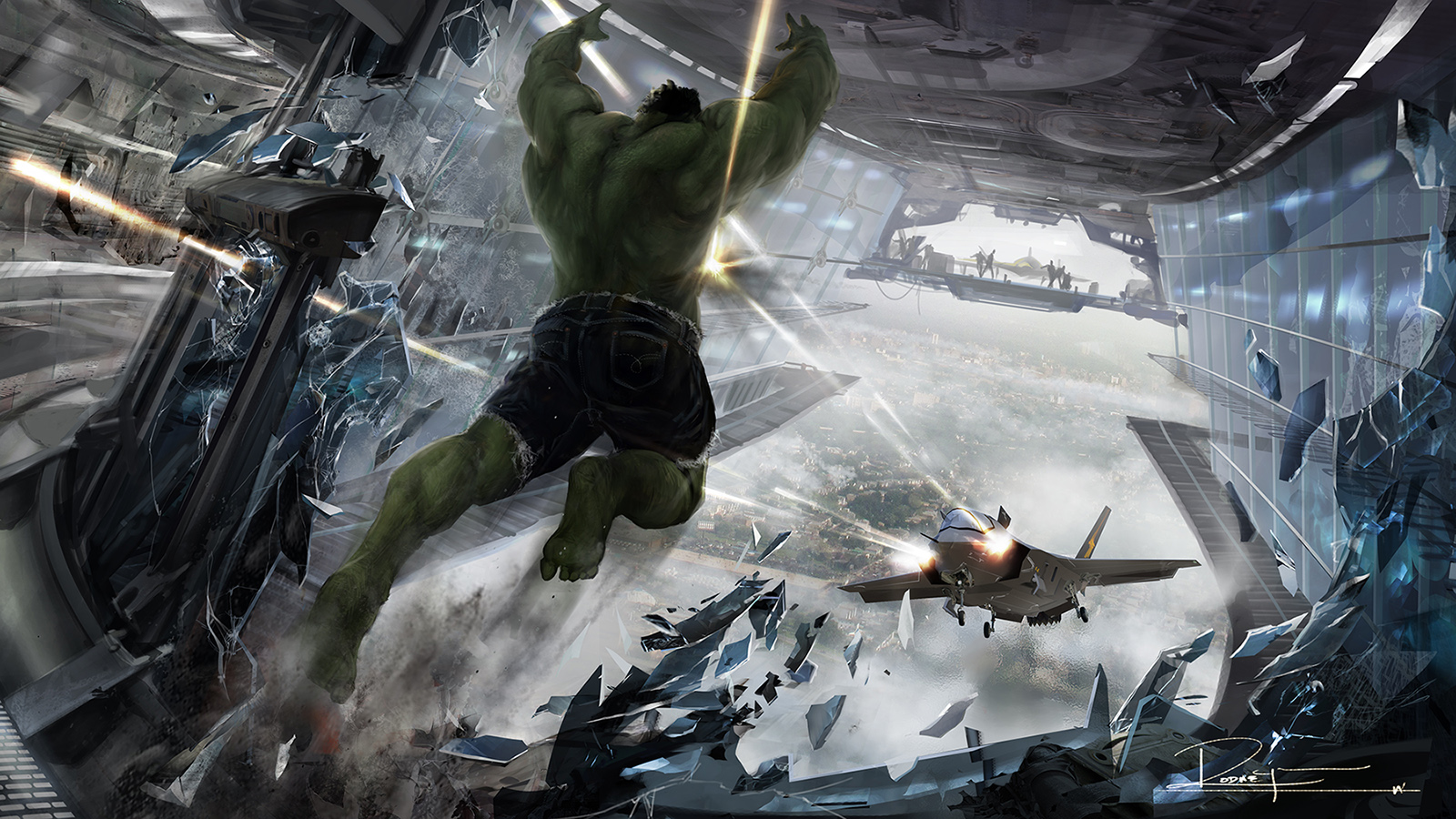 Avengers art халка
