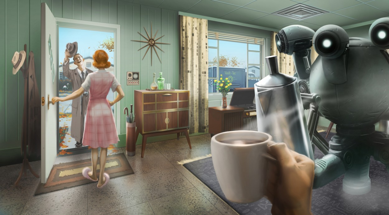 Fallout 4 концепт арт начало игры