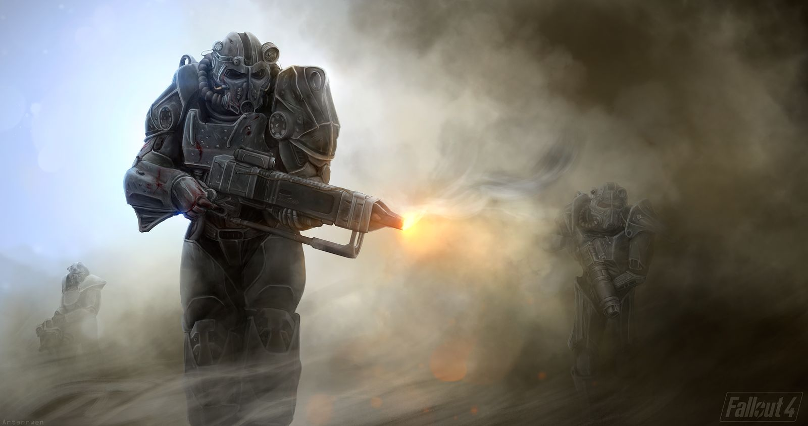 Fallout 4 art силовая броня