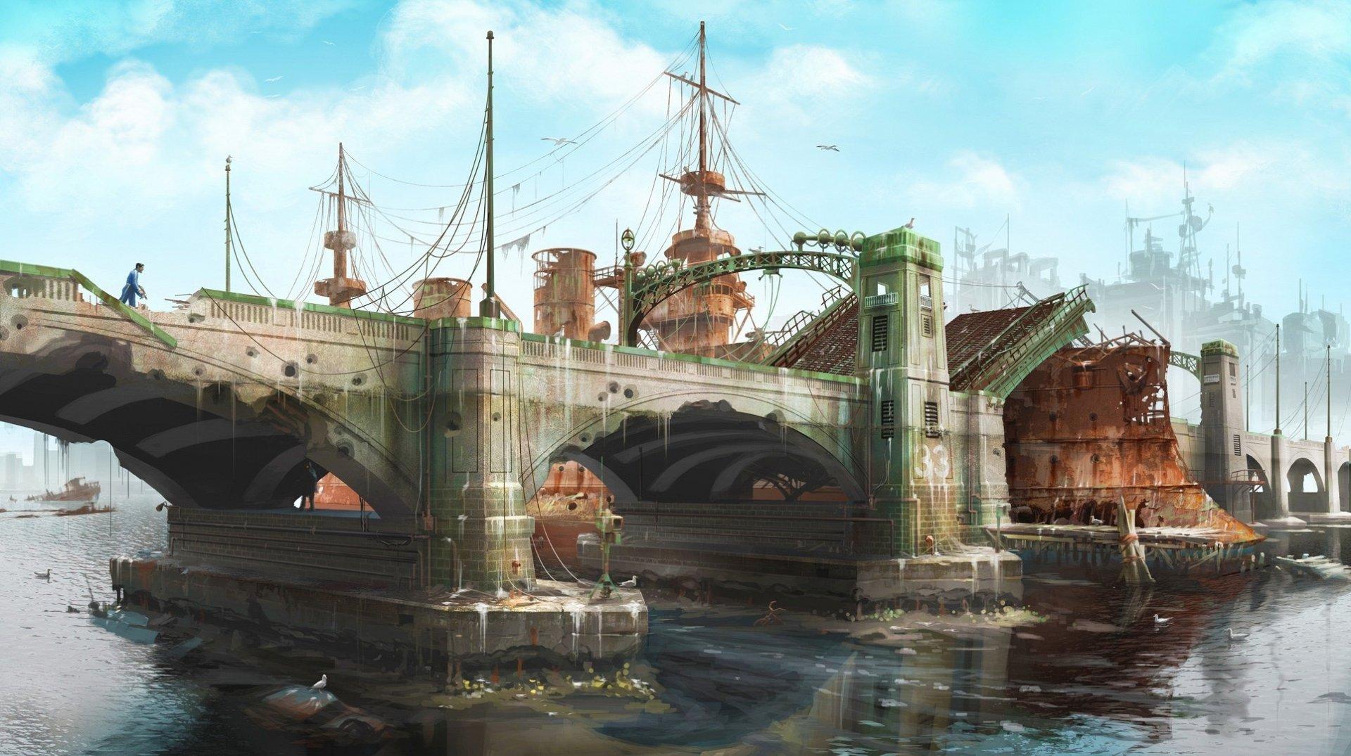 Fallout 4 концепт арт мост